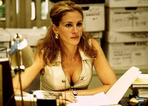 Julia Roberts as Erin Brockovich. This bra became famous for its fixed gel