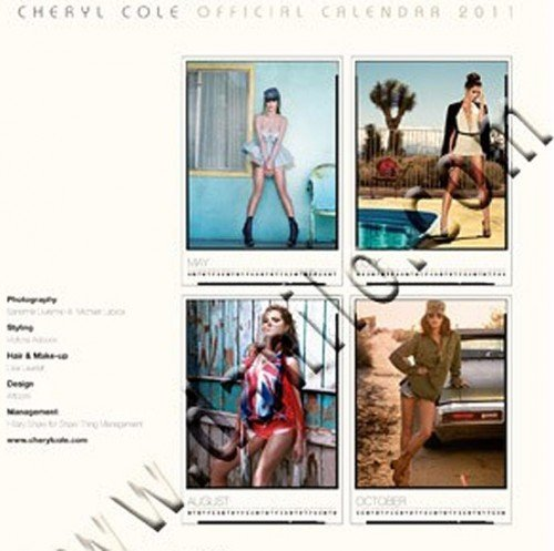 The 2011 Cheryl Cole calendar is now available in shops or online at