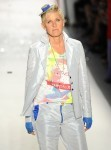 Ellen Degeneres walks the runway at the Richie Rich Spring 2011 fashion show