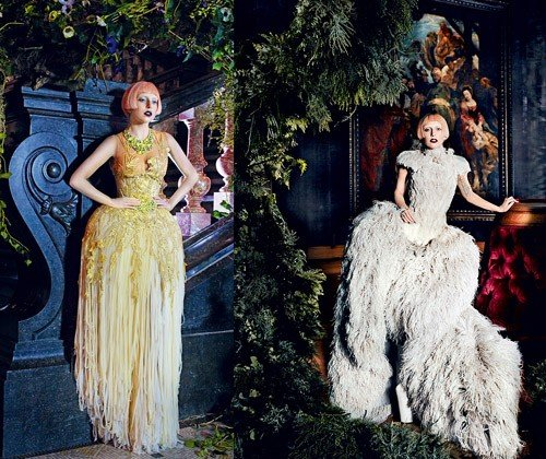 Gaga in McQueen - Vogue Photoshoot