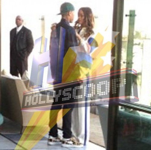 Chris Brown Comforted By Rihanna hs1