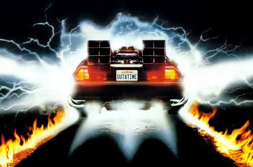 DeLorean back-to-the-future