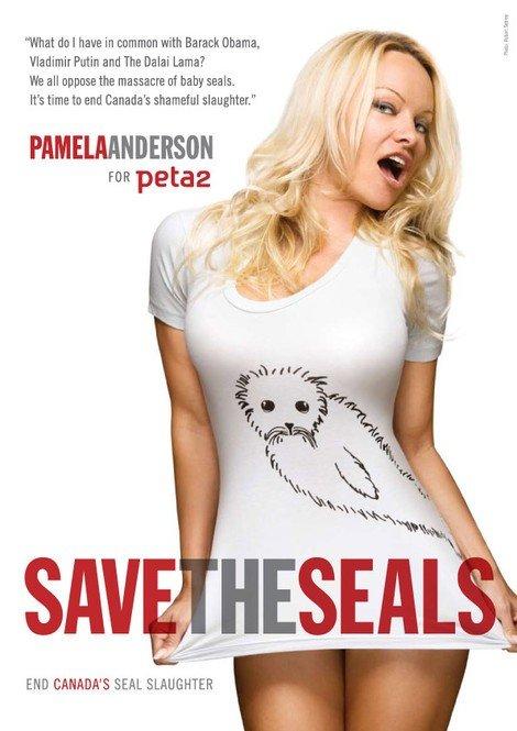 Pamela Anderson- peta seal