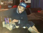CHRIS BROWN AND HIS BULLDOG PUPPY