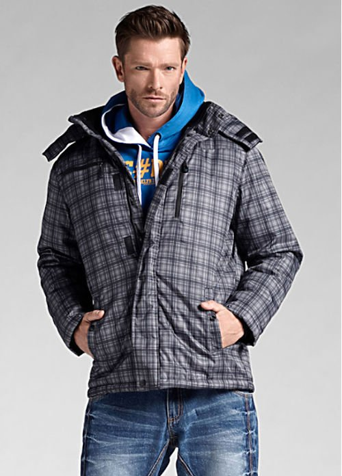 Checked outdoor jacket2