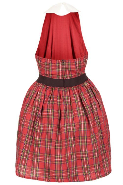 TARTAN OPEN BACK DRESS BY RARE2