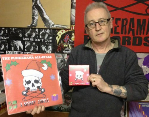 Gary Fahy from Punkerama Records with the limited edition LP and CD single
