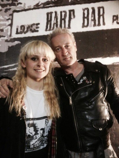 Gary Fahy from Punkerama Records with his daughter singer/songwriter Jaime Fahy