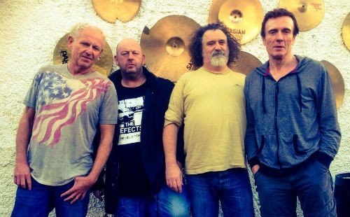 Greg Cowan, Martin Cowan, Petesy Burns and Raymond Falls from Northern Ireland band The Outcasts