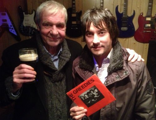 Terri Hooley with John Rossi from Northern Ireland band Shock Treatment 21