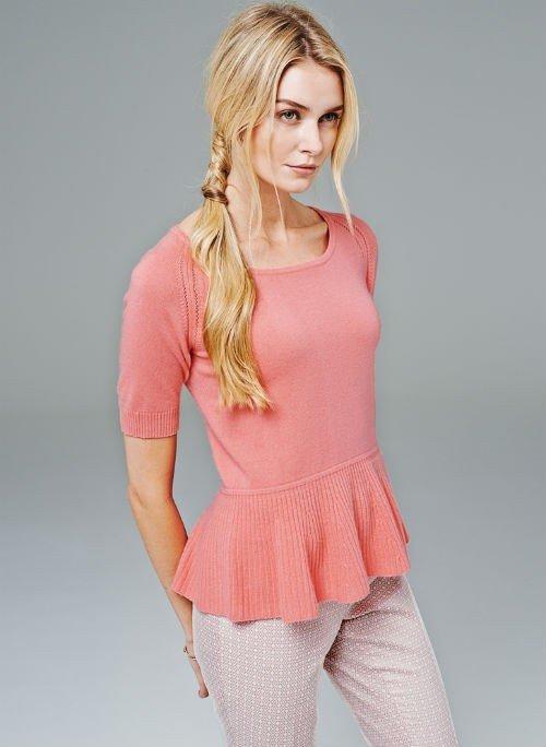 Cashmere Peplum Sweater1