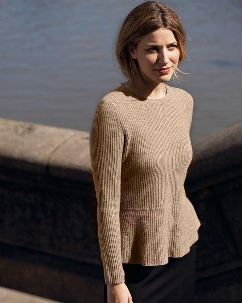 Cashmere Peplum Sweater6