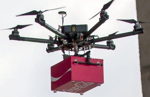 Coke Drones fly