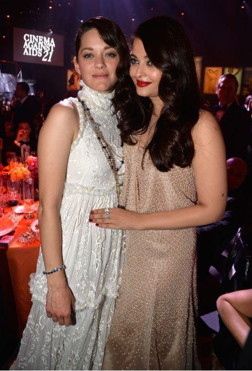 Marion Cotillard and Aishwarya Rai