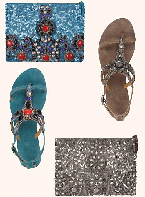 jewelled gladiator sandals JONES3