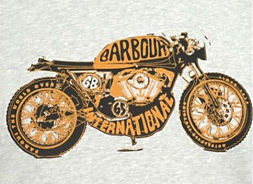 Barbour International T-shirt Grey Highway Tee2