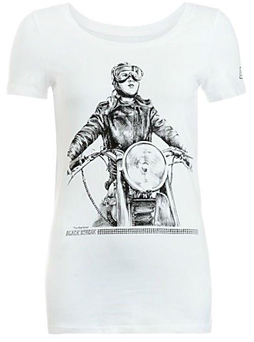 Barbour International White 'Dureau' Biker T-Shirt1