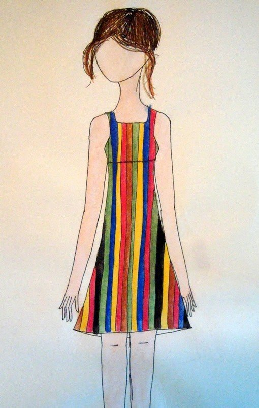 multicoloured_striped_dress_by_fourthstripe