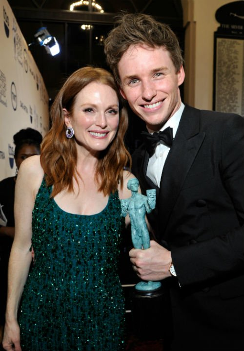 Julianne Moore took the SAG award for best female actor in the leading role in Still Alice
