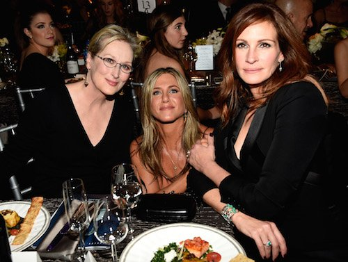 Meryl Streep, Jennifer Aniston and Julia Roberts