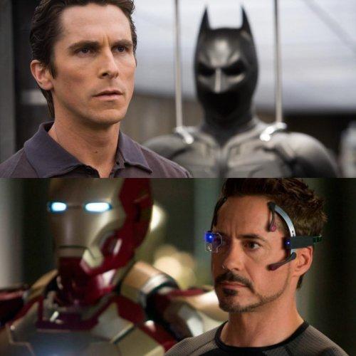 Bruce Wayne Tony Stark Collage