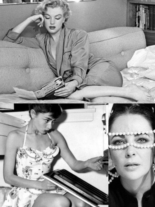 MarilynAudreyLiz-Collage