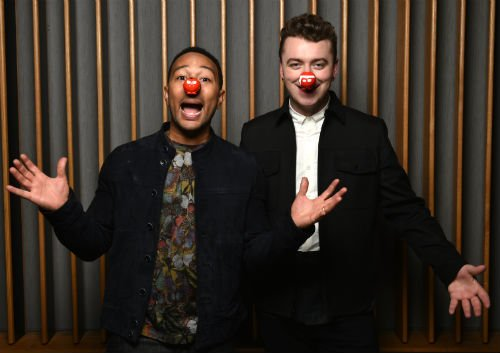 john and sam red nose day