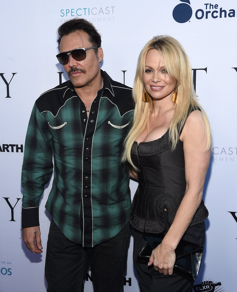 "Photographer David LaChapelle and actress Pamela Anderson attends the world premiere of ""UNITY"" at the DGA Theater in Los Angeles, California."