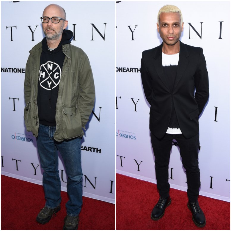 Musicians  Moby and  Tony Kanal