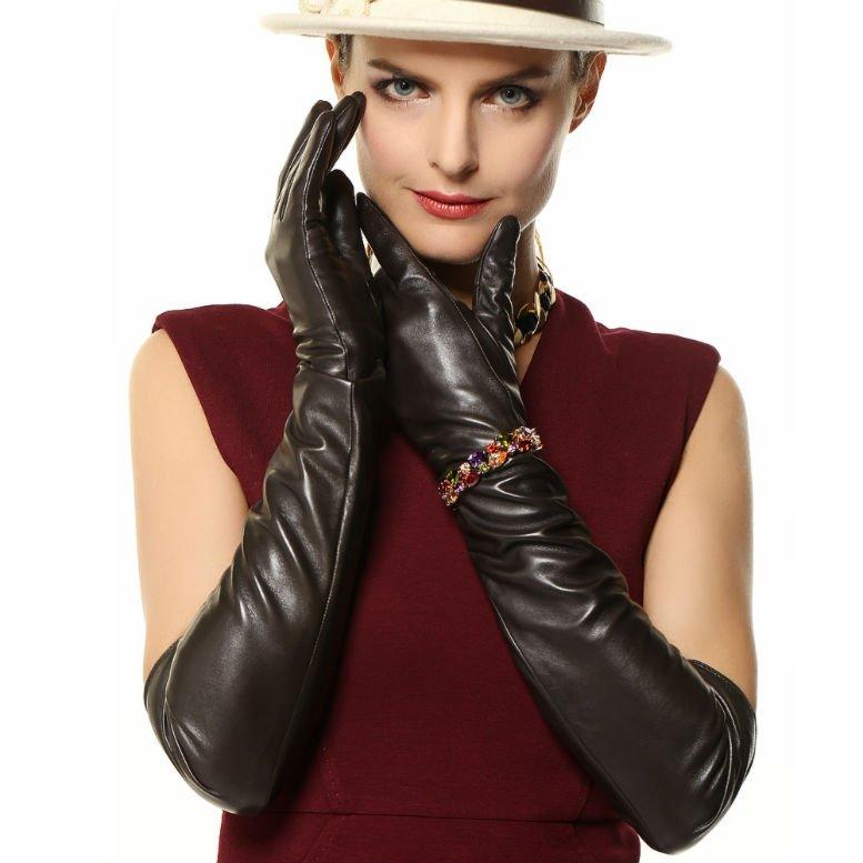 Fashion-2-colors-Black-Brown-long-style-font-b-elbow-b-font-font-b-length-b