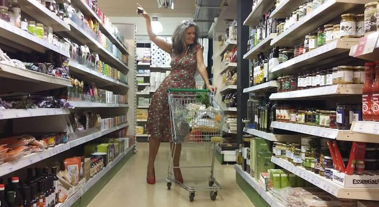Joss' mum gave the moves down a supermarket aisle, for the video for 'The Answer'