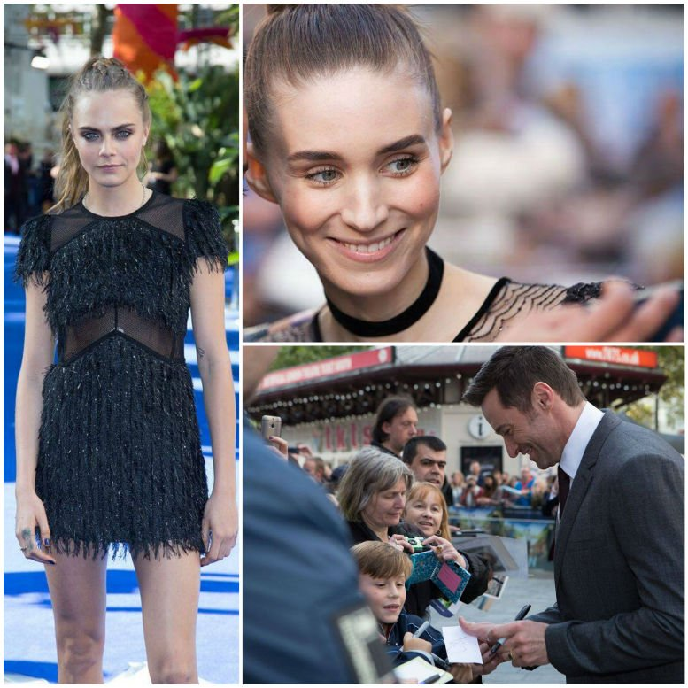 Rooney Mara, Cara Delevingne and Hugh Jackman