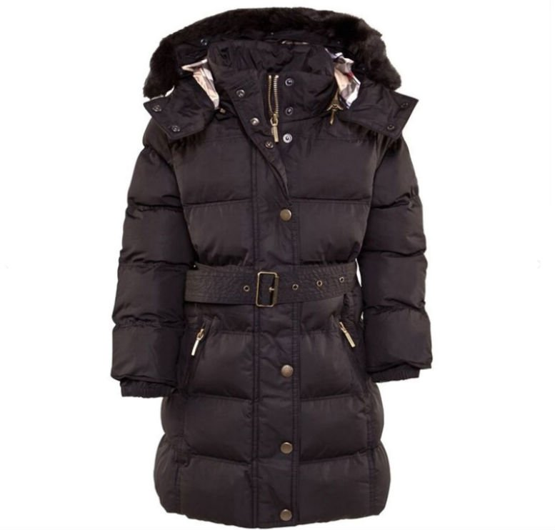 BURBERRY Black Belted Puffer Coat £223