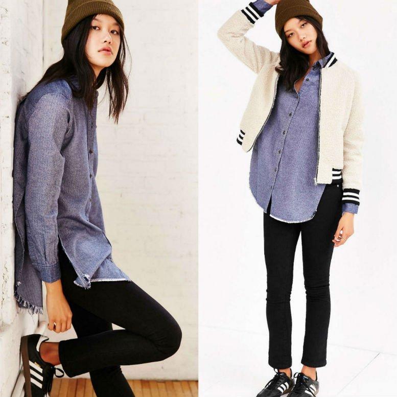 BDG Meyer Shredded Flannel Shirt WAS $69 NOW $39