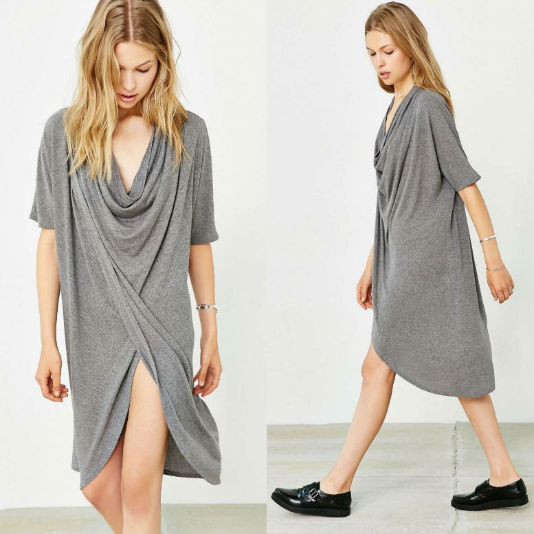 Silence + Noise Drapey Cowl Neck Dress WAS $69 NOW $49.99