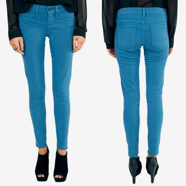 Colored denim skinny jeans pants. WAS £47.50 NOW £11.22