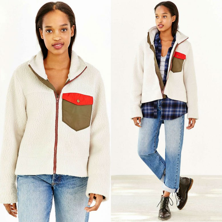 Without Walls Thermal Shearling Zip-Up Jacket WAS $128 NOW $59.99