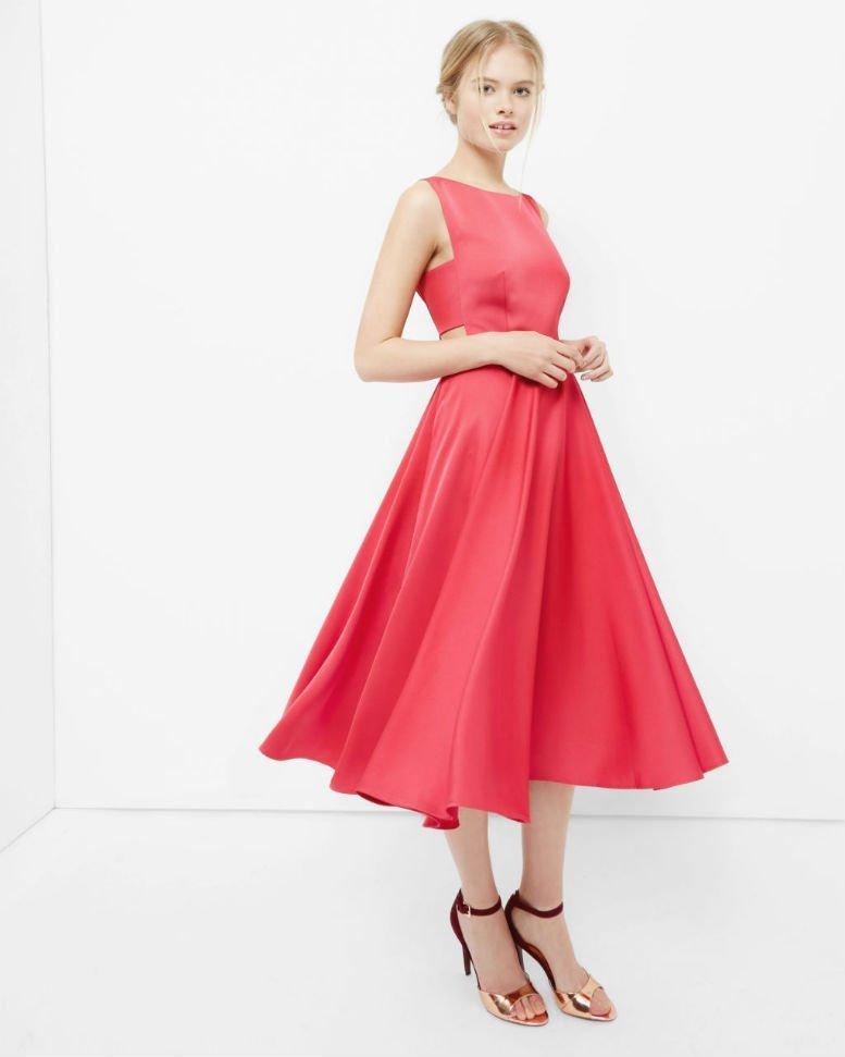 TED BAKER LYXA Cut-out midi dress1