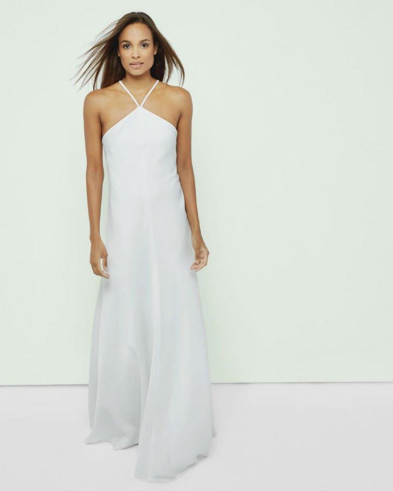 TED BAKER MADORA Cross back maxi dress1