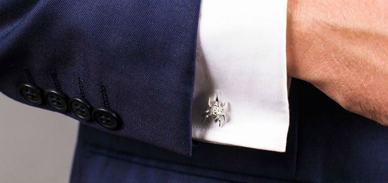 Spotted Bug Cufflinks in sterling silver